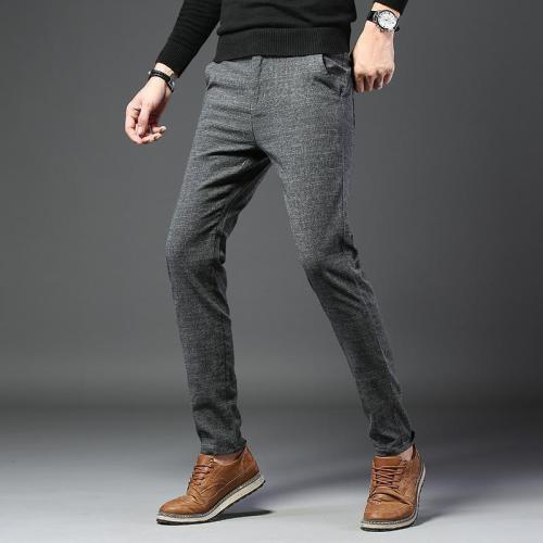 Casual Business Check Slim Check Pants