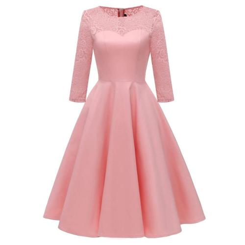 Vintage satin high-grade Evening Dress lace Party Dresses Big yards evening gown pretty formal dress abiye gece elbisesi