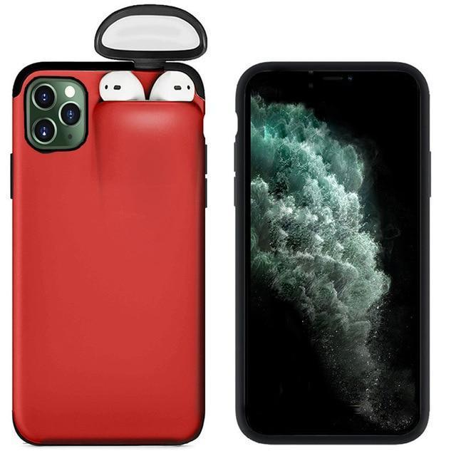 2 in 1 iPhone Case with AirPods Holder