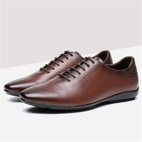 Men's gentleman retro leather shoes