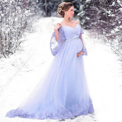 Eightree 2020 Wedding Dress Flare Sleeve Bridal Gown for Pregnant Vestidos de Novia Plus Size Appliques Dress Robe de Mariee