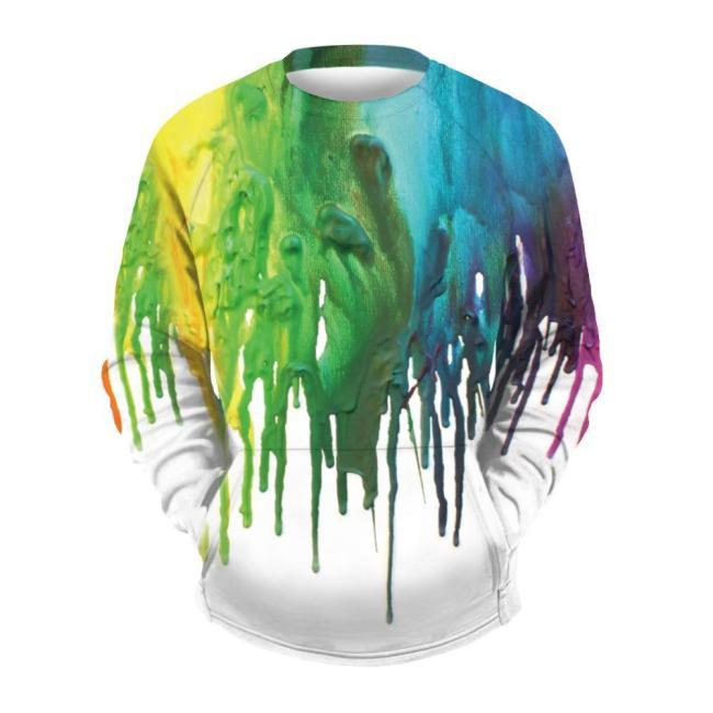 Men's Paint Print Sports Sweatshirt