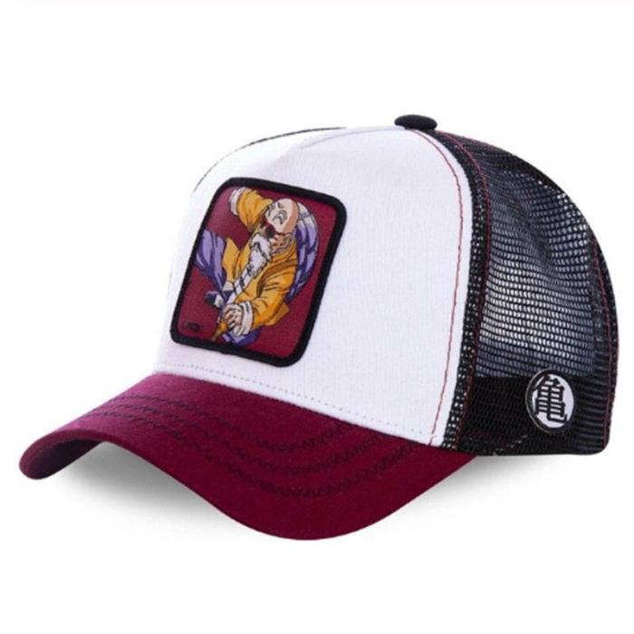Super Mario Mickey Majin BUU DONALD Duck Snapback Baseball Cap Men Women Hip Hop Dad Mesh Hat
