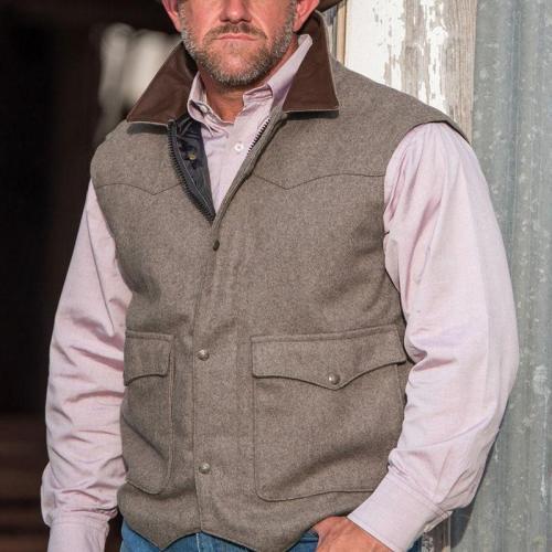 Casual retro business warm men's vest