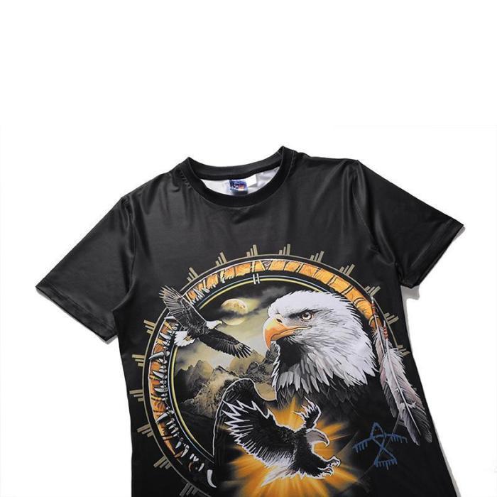 3D Eagle Print T-Shirt