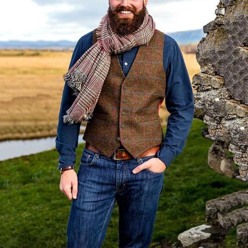 Flashmay Fashion V Neck Single Breasted Vest Coats
