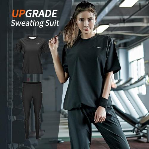 Gym Clothing Set Womens Hoodies Pullover Sportswear Running Fitness Training Jersey Weight Loss Sweating Sauna Sports Suit