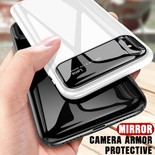 Luxury Mirror Camera Armor Ultra-thin Case For iPhone
