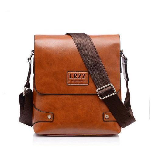 Men Business PU Leather Messenger Briefcase Shoulder Bag Crossbody Bag