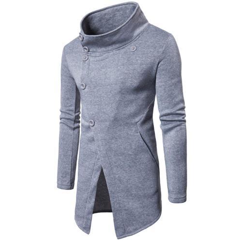 Oblique Button Placket Man's Outerwear