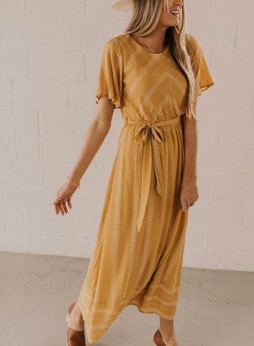 Women's Daily Print Maxi Dress