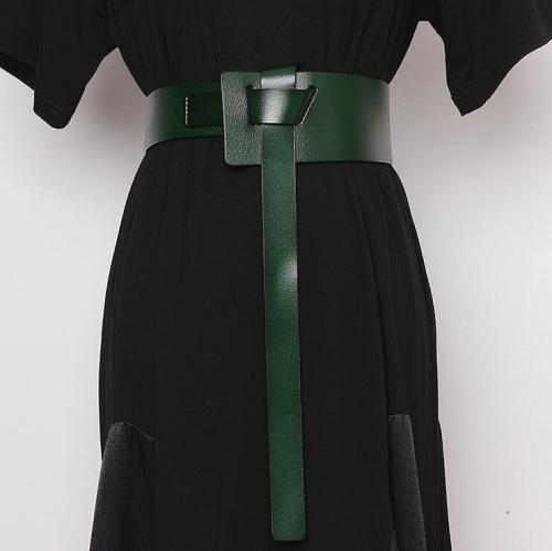 Women's runway fashion genuine leather Cummerbunds female Dress Corsets Waistband Belts decoration wide belt R2467