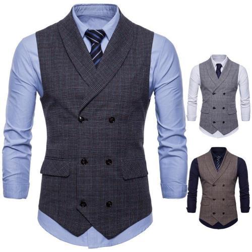 Elegant Business Slim Fit Check Vest