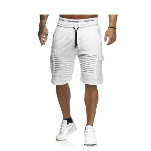 Summer Shorts Men Casual Shorts Gym Fitness Workout Beach Shorts Man Breathable CottonShort Trousers Stripe shorts masculino