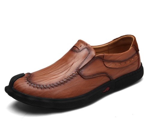 Spring new men's casual shoes fashion leather men's shoes