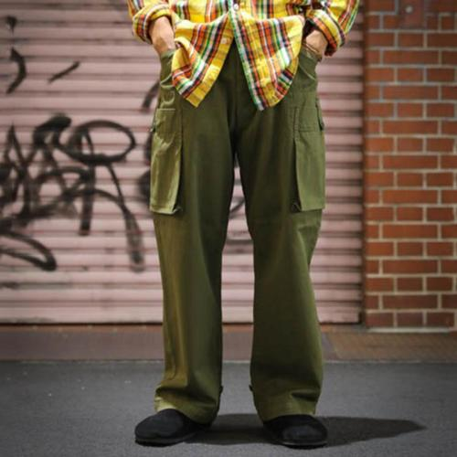 Men's Casual Big Pocket Straight Casual Long YT009