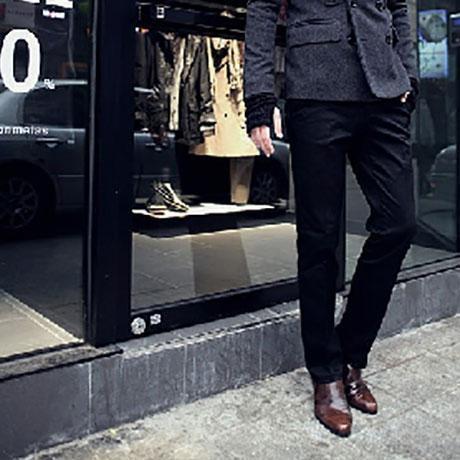 Fashion Casual Plain  Slim Business Pants