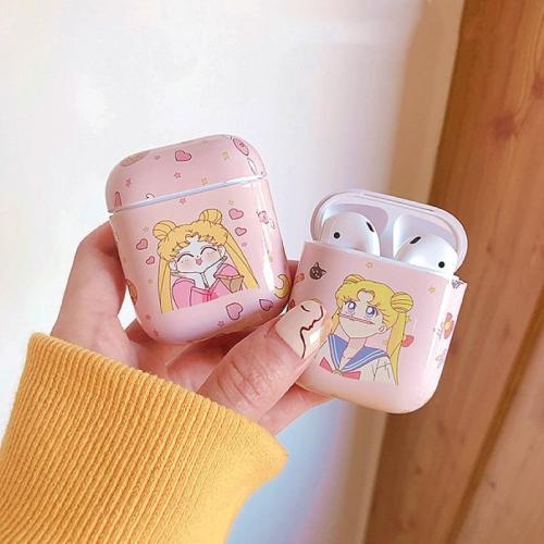 Cute Sailor Moon Pink Airpods Case