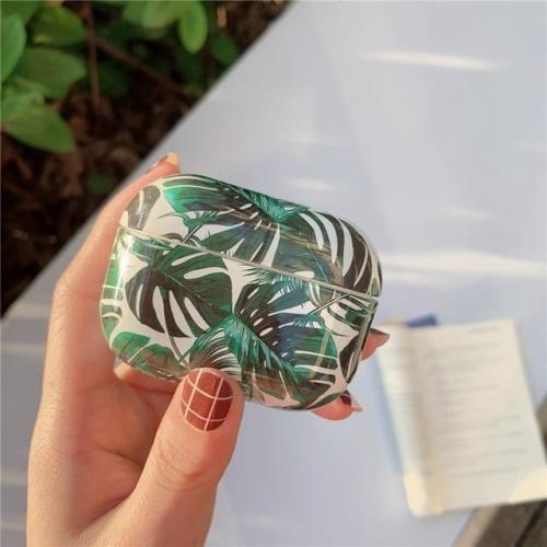 Beach Leaves Flower Silicone AirPods Pro Case Shock Proof Cover