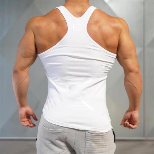 Letter Printed Cotton Irregular   Hem Fitness Vest