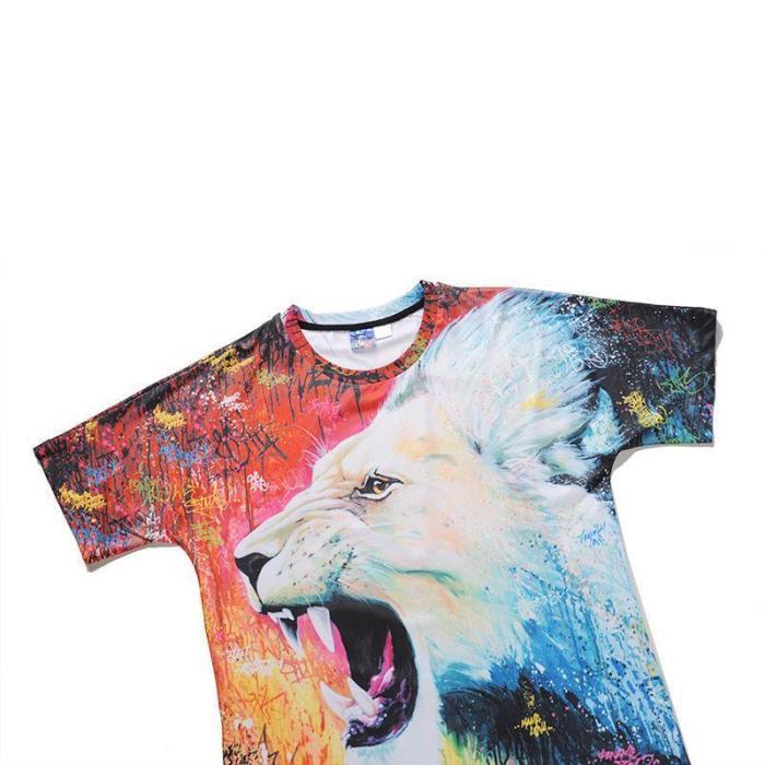 Creative 3D Animal Printed Crew Neck T-shirt