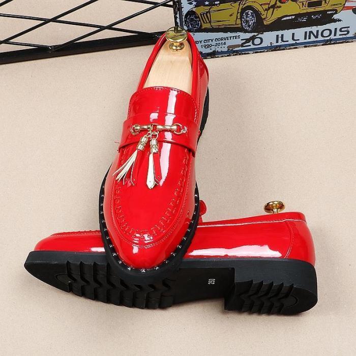 Loafers - Men Italian Tassel Business Wedding Leather Shoes