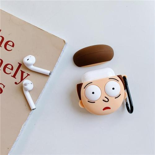 3D Silicone Rick and Morty AirPods Charging Case