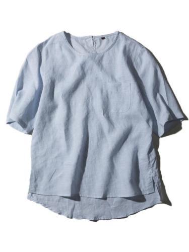 Men Casual Solid Short Sleeves Shirt