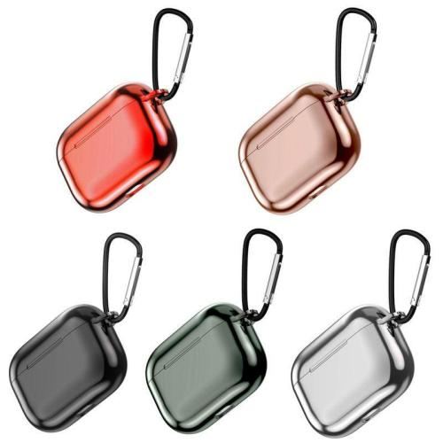 Clear Crystal AirPods Pro Case Shock Proof Cover with Keychain