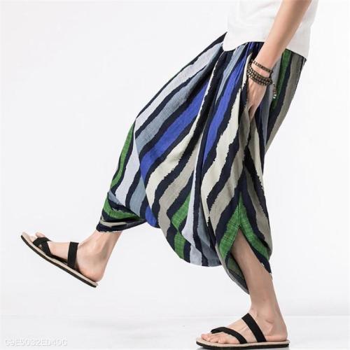 Fashion Casual Vacation Loose Strip Harem Pants