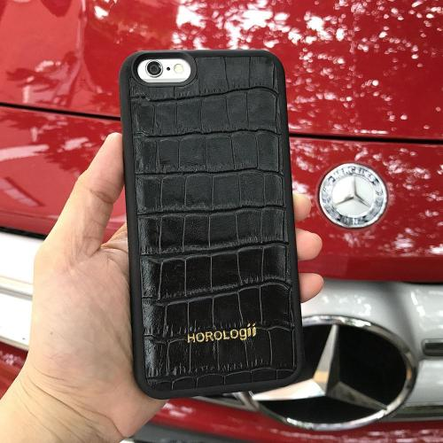 Fashion Crocodile Pattern Genuine cow Leather Phone Case For iphone