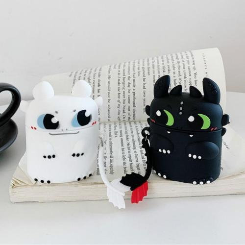 How to Train Your Dragon 3 Toothless 3D Silicone Couple AirPod Case Cover