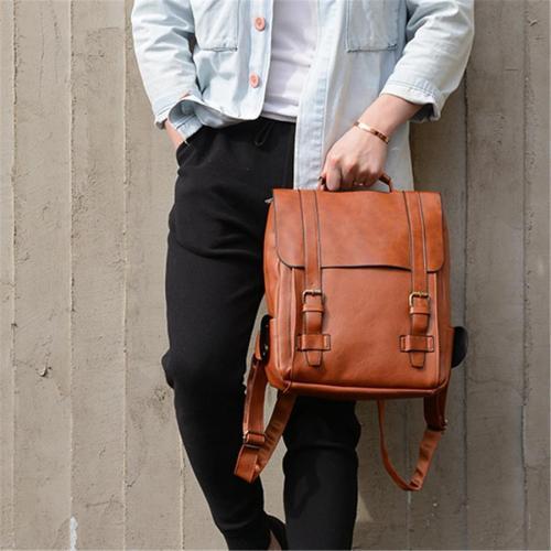 Men's Vintage Buckle Backpack