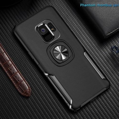 Luxury Metal Ring Car Stand Silicone Case for Samsung Galaxy S9 S9+Note 9 Note 8 S8 S8 Plus