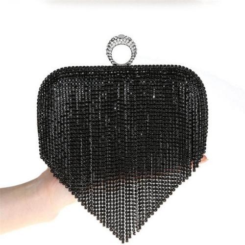 Diamond tassel evening dress crossbody clutch
