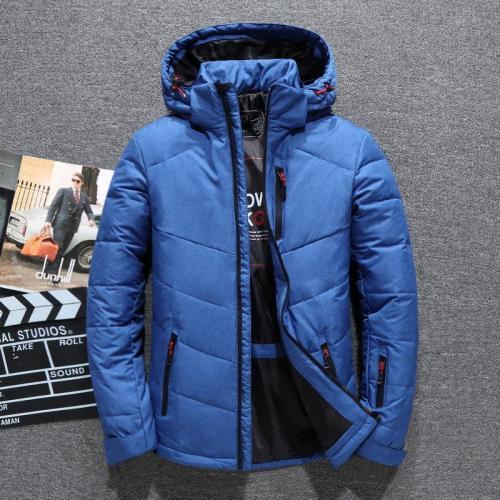 Asstseries Brand men's winter coat casual hat detachable white duck down jacket for men warm windbreaker doudoune hiver homme