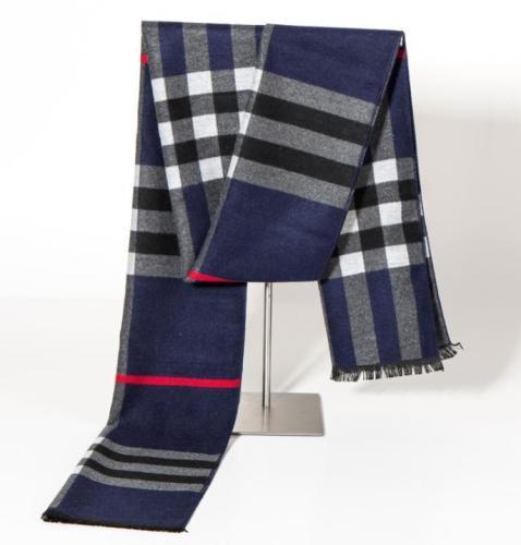 Winter wild silk classic warm plaid scarf