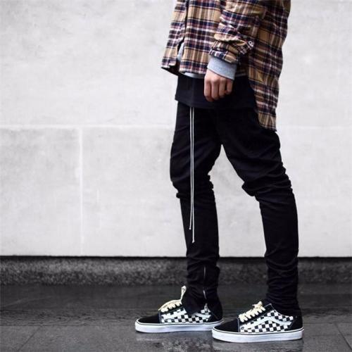 Casual Plain Street Style Elastic Waist Pants