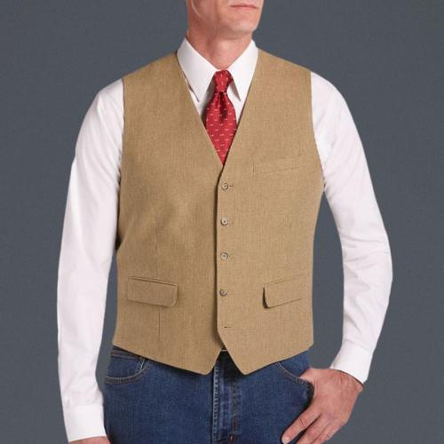 Mens Business Casual Solid Colour Single Breasted Vest