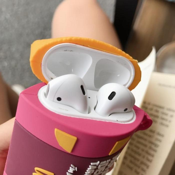 3D Aromatic Taro Pie AirPods Case Silicone Shockproof Cover