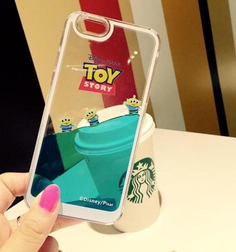 Cute Cartoon Soft edge Blue Liquid Toy Case For iPhone