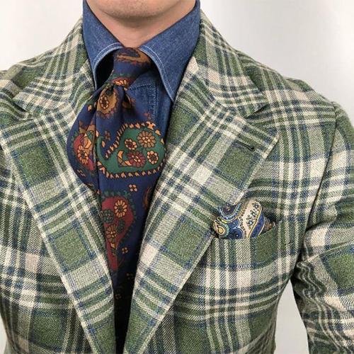Exotic style Printed Color Men's Tie