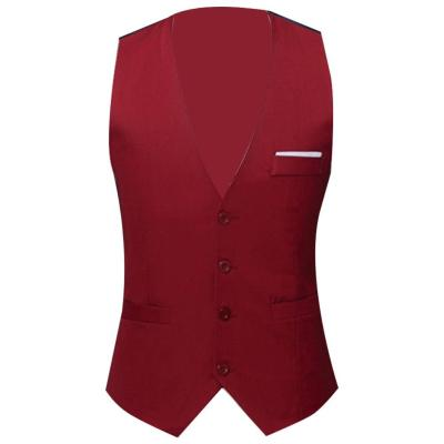2020 New Arrival Dress Vests For Men Slim Fits Mens Suit Vest Male Waistcoat Homme Casual Sleeveless Formal Business Jacket