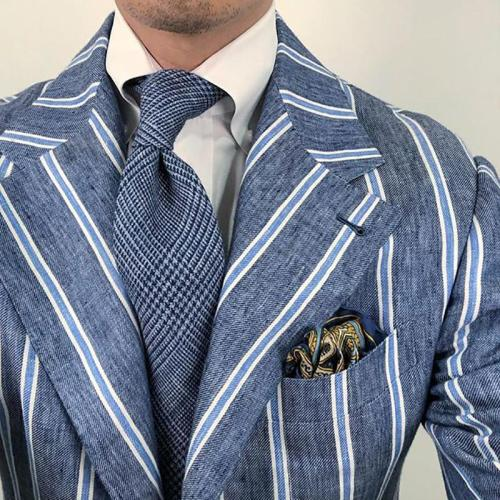 Mens brief fashion pure color blue tie