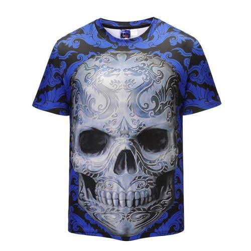 Creative 3D Skull Print T-shirt