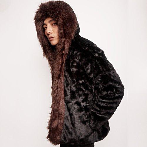 Faux Otters Patchwork Coat