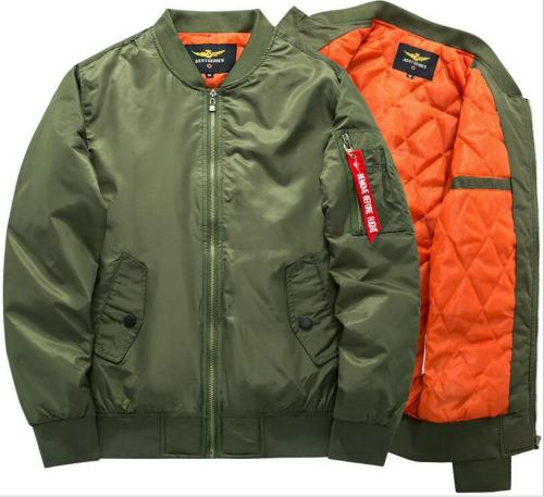 Sportswear Mens thick warm Flight Bomber Jackets Men's Rib Sleeve Zipper  Air Force windproof polo Coats exercise joggers 6XL