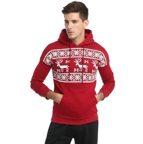 Mens Christmas Moose Hoodie