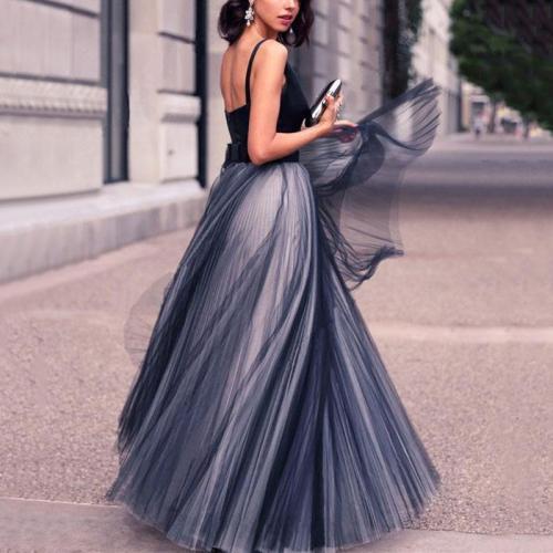 Fashion Sexy V Neck Sleeveless Grenadine Slimming Evening Maxi Dress