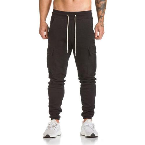 New men's casual personality side pockets in the waist tight pants